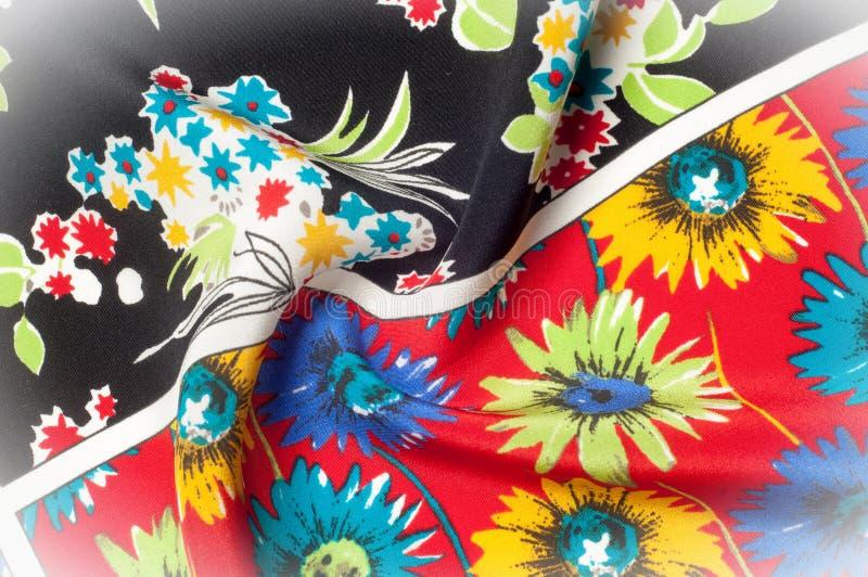 Картина предпосылки текстуры Точная silk ткань, цветочный узор te стоковое фото