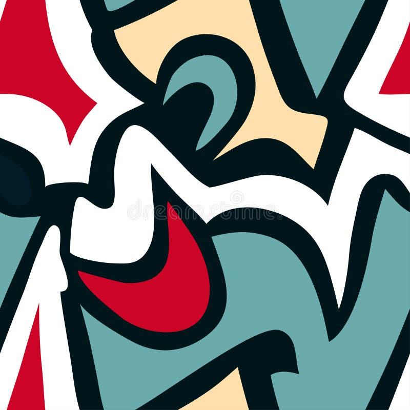 Картина предпосылки граффити безшовная иллюстрация штока