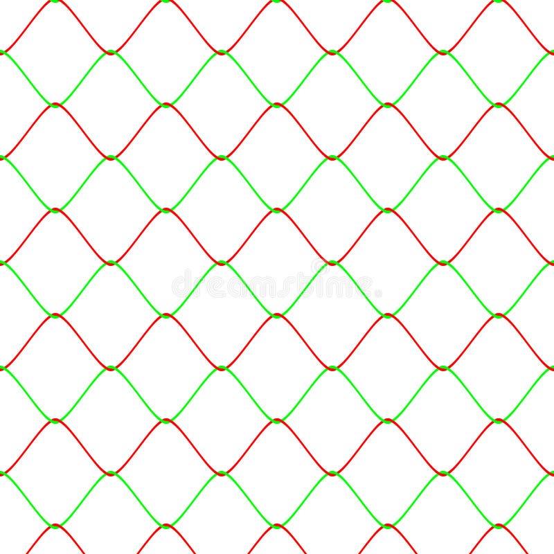 Картина предпосылки загородки сети Colot Rabitz безшовная иллюстрация штока