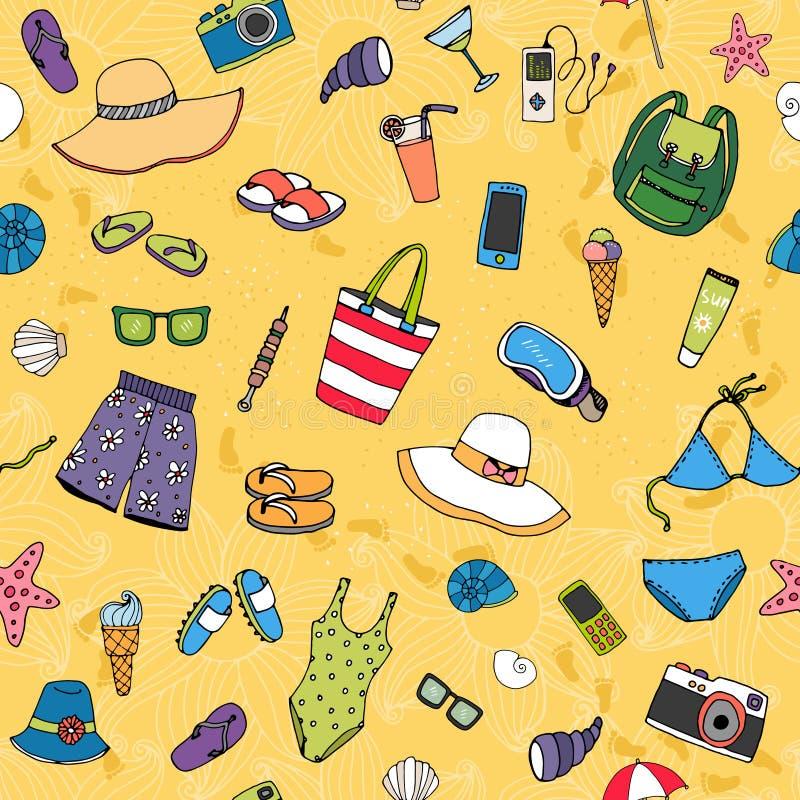 Картина предпосылки пляжа безшовная бесплатная иллюстрация
