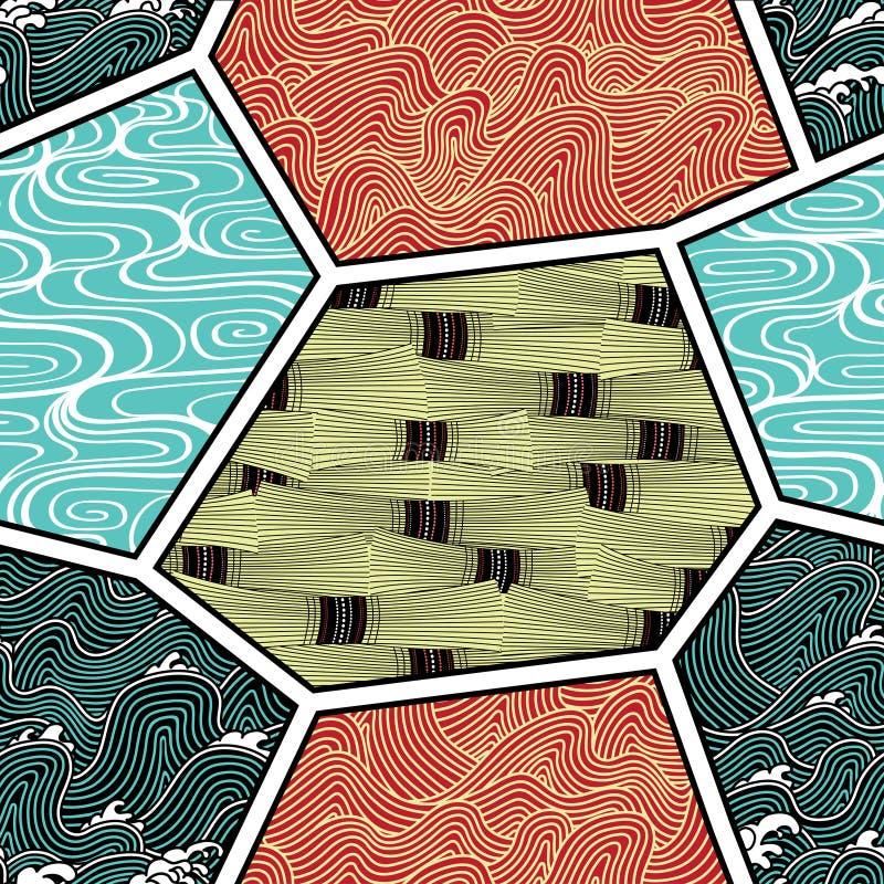 картина природы японии элементов иллюстрация вектора