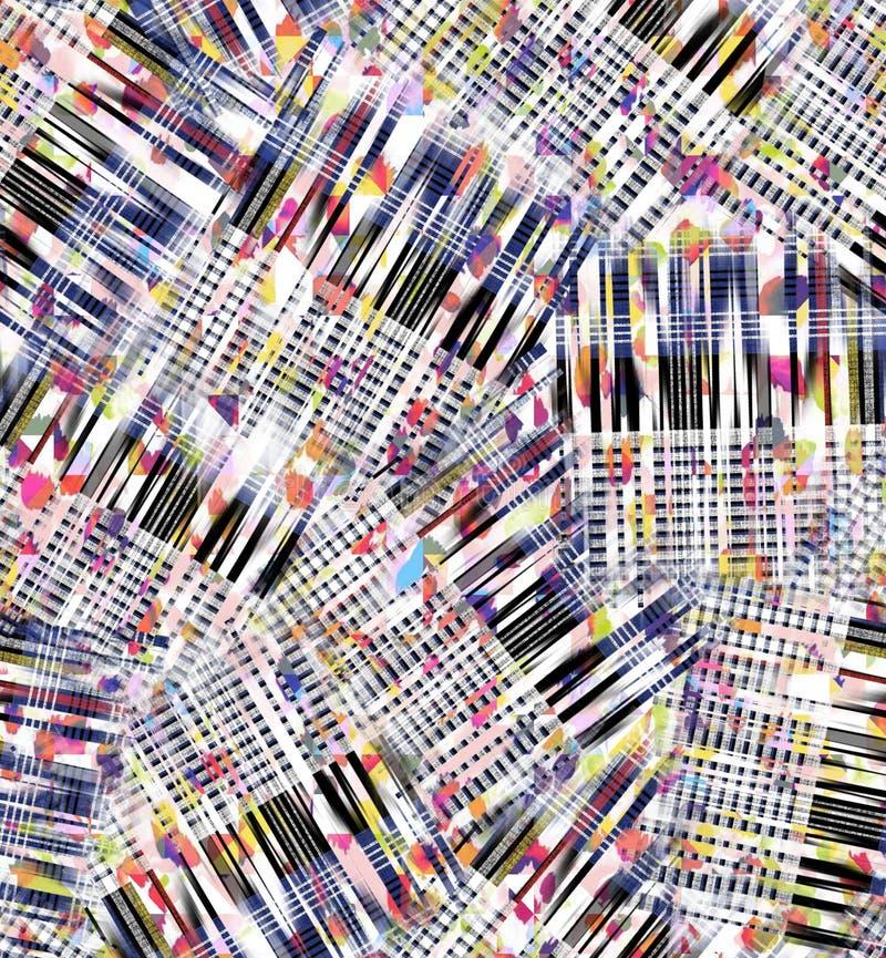 Картина проверок конспекта акварели цифровая стоковая фотография rf