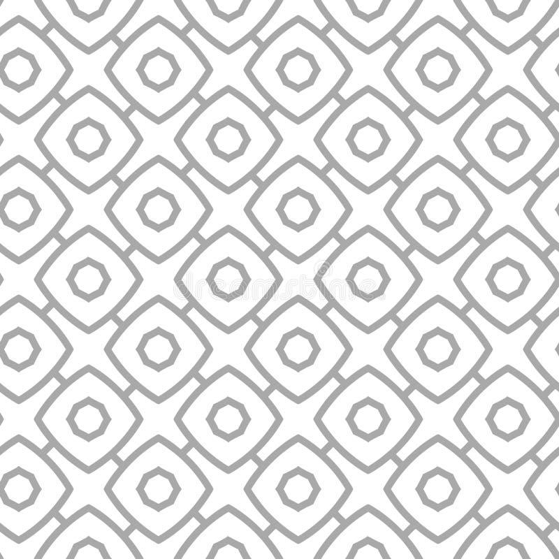 Картина простого геометрического вектора безшовная - серый контур вычисляет иллюстрация вектора