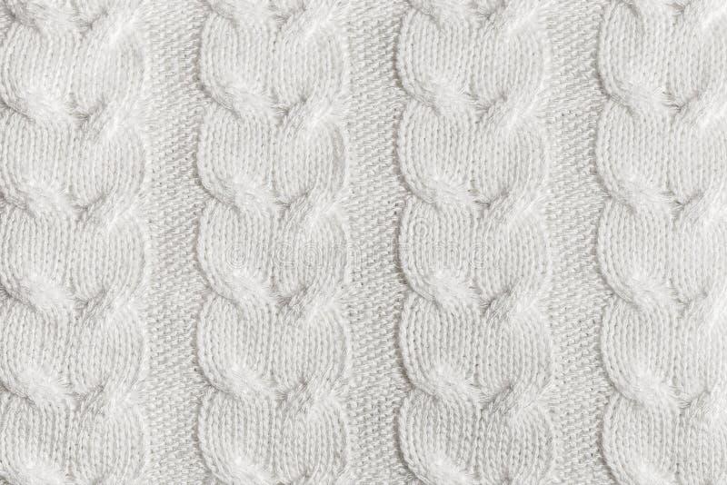 Картина пряжи конца-вверх handmade связанная Домодельный грейте текстурированную предпосылку стоковое изображение rf