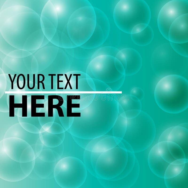 Картина пузырей мыла аквамарина бесплатная иллюстрация