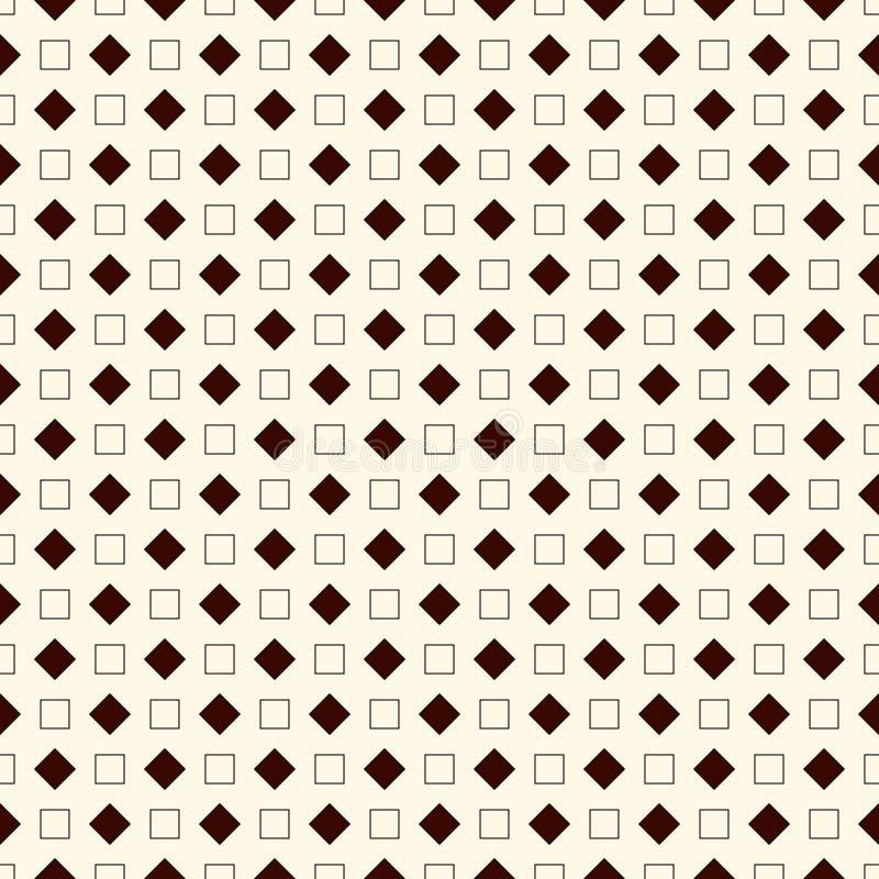 Картина плана безшовная с геометрическими диаграммами Повторенные квадраты и предпосылка косоугольников орнаментальная абстрактна бесплатная иллюстрация