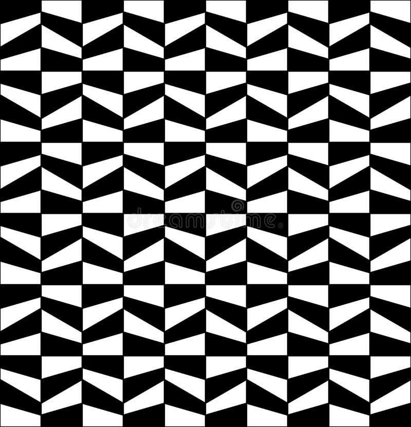 Картина плитки геометрии вектора современная абстрактная черно-белая безшовная геометрическая предпосылка бесплатная иллюстрация