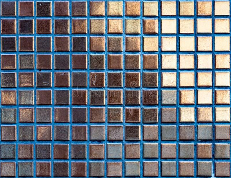 Картина плиток мозаики золота стоковое фото