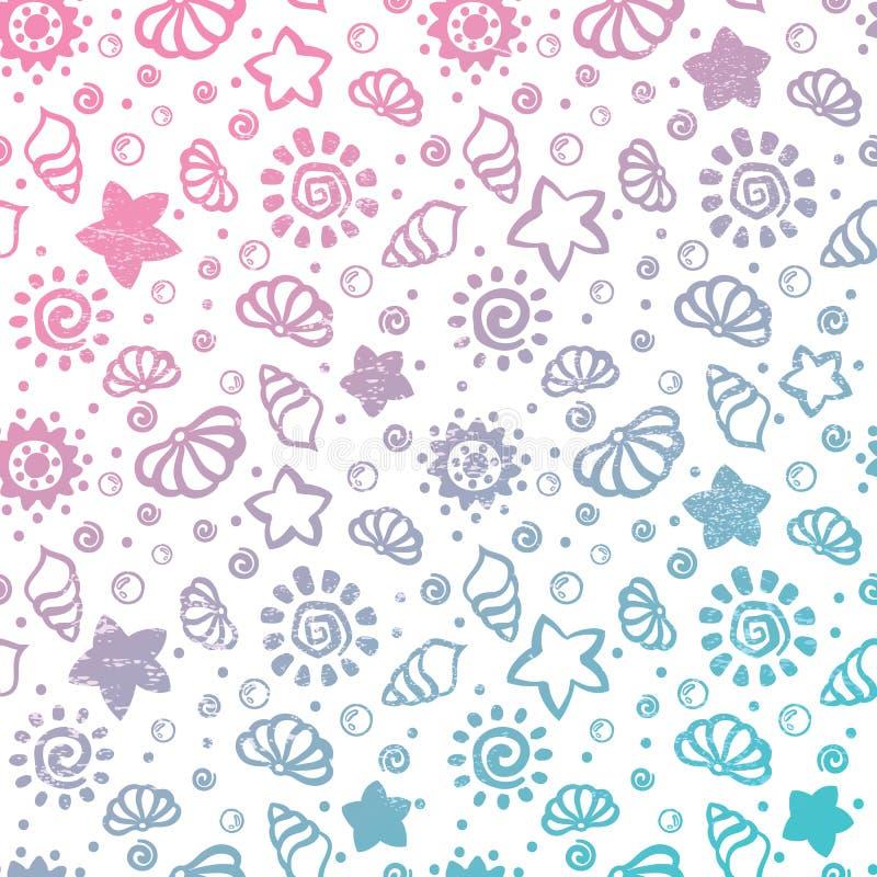 Картина раковины лета иллюстрация вектора