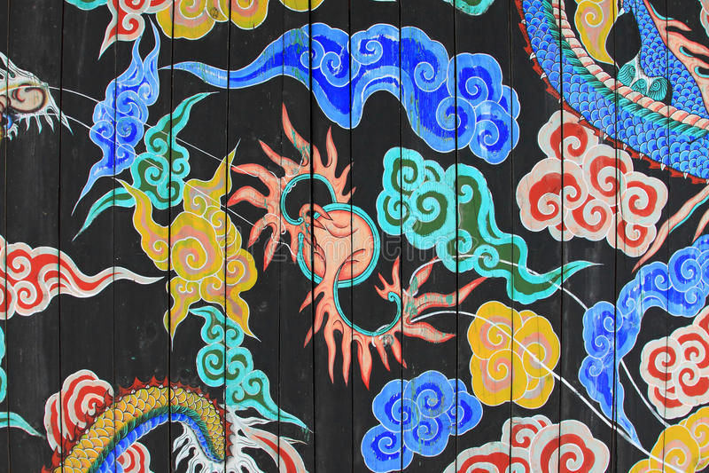 Картина дракона Кореи стоковая фотография rf