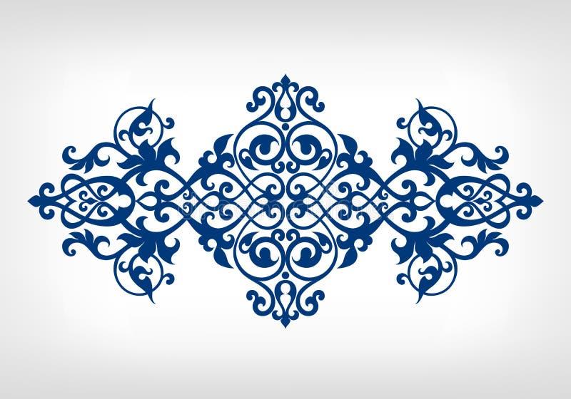 Картина рамки каллиграфии орнамента вектора винтажная иллюстрация вектора