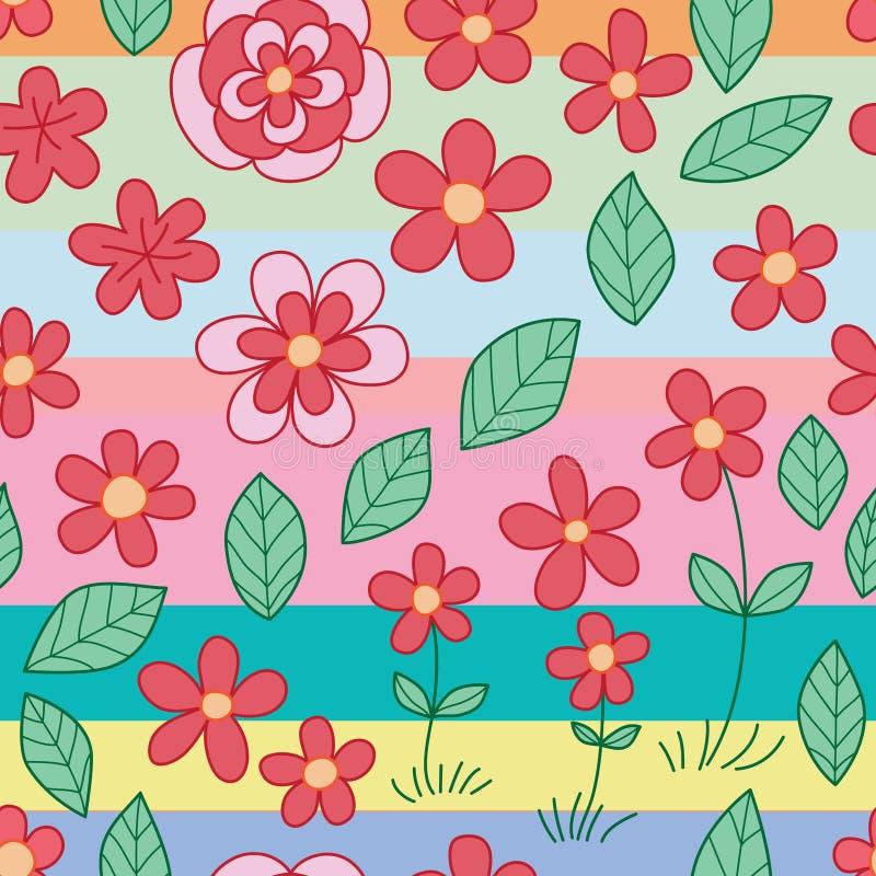 Картина раскосной нашивки лист цветка безшовная бесплатная иллюстрация