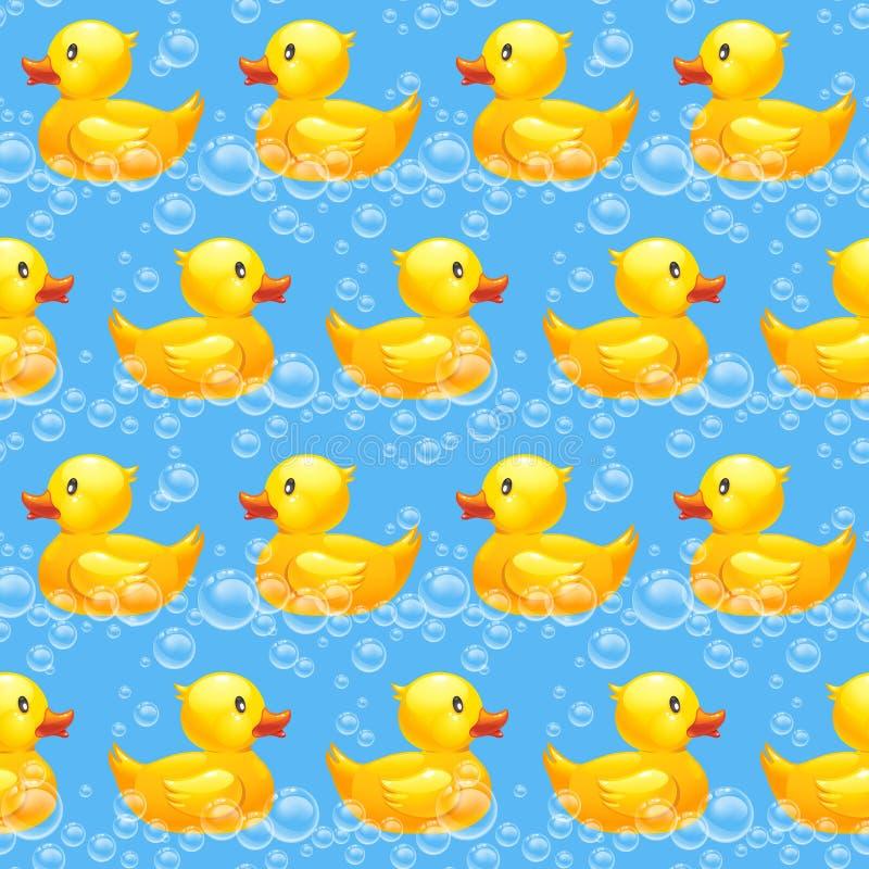 Картина резиновой утки безшовная бесплатная иллюстрация