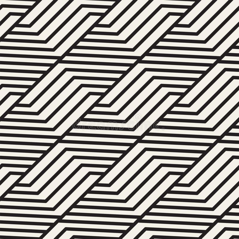 Картина решетки вектора безшовная Современная стильная текстура с monochrome шпалерой Повторять геометрическую решетку конструкци иллюстрация штока