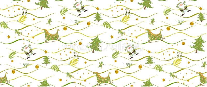 Картина рождества безшовная на белой предпосылке vectors иллюстратор стоковые фото