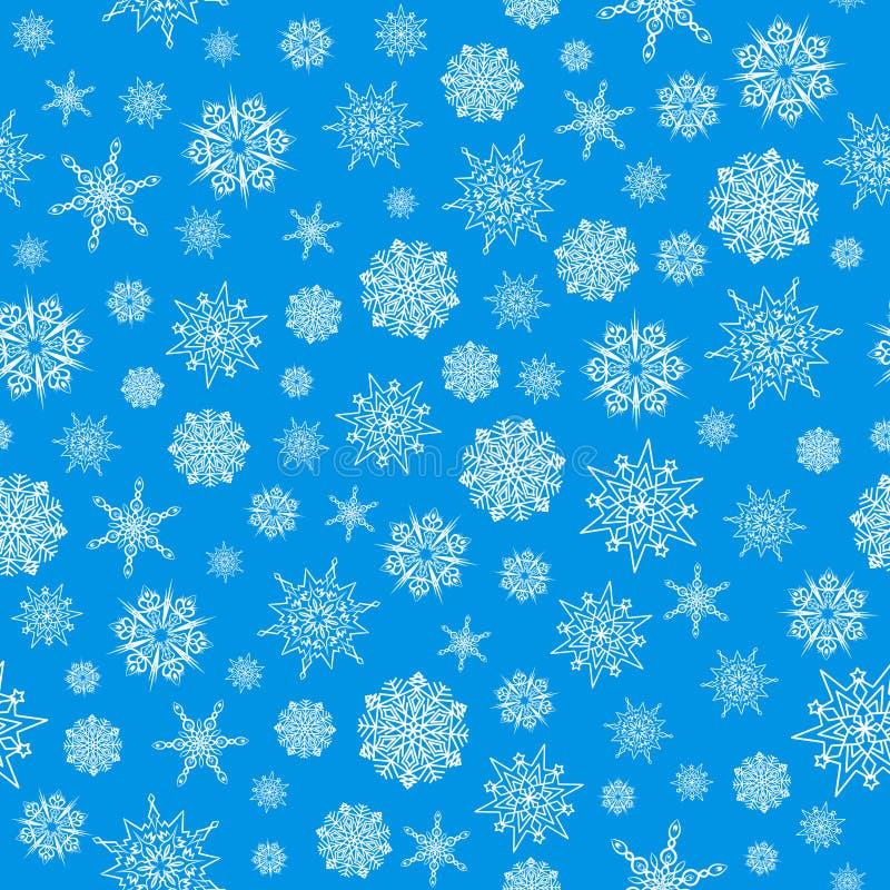 Картина рождества безшовная с белыми снежинками Текстура зимы бесплатная иллюстрация