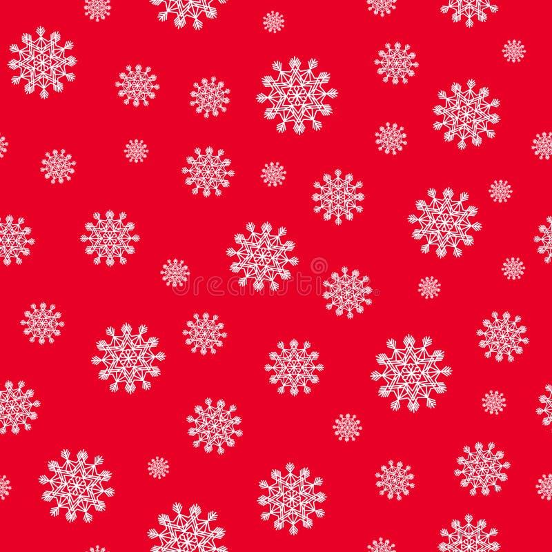 Картина рождества безшовная с белыми снежинками Текстура зимы иллюстрация штока