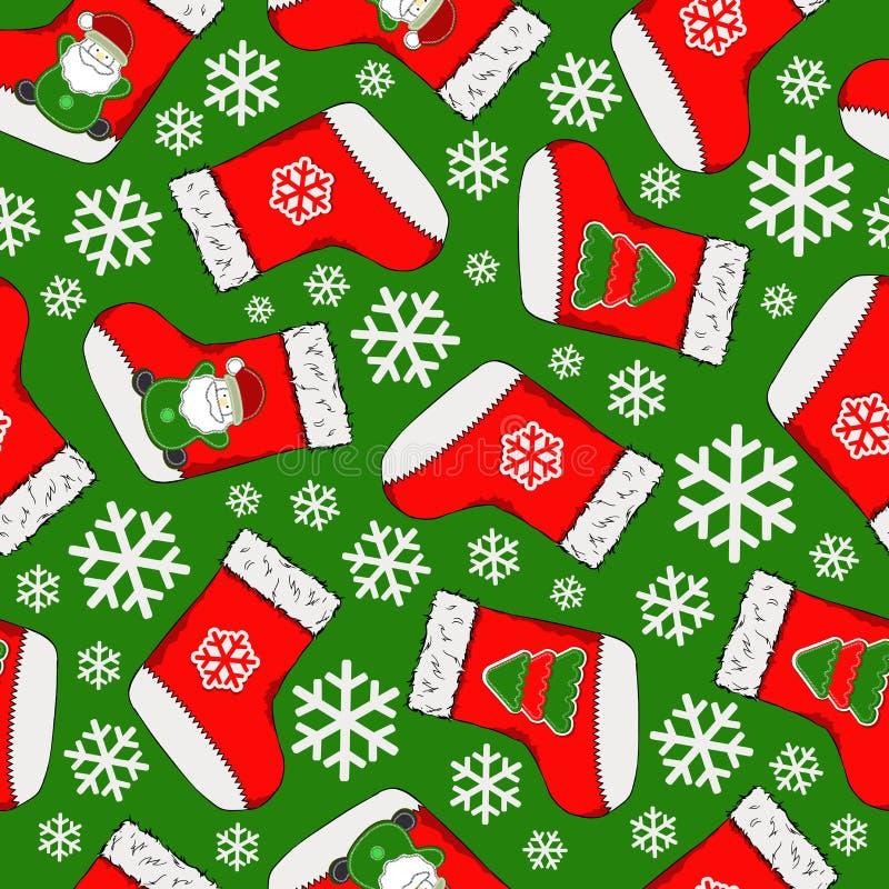 картина рождества безшовная С Рождеством Христовым дизайн Его можно использовать для обоев, интернет-страницы и других также вект иллюстрация штока