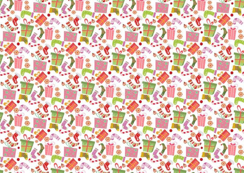 картина рождества безшовная иллюстрация вектора