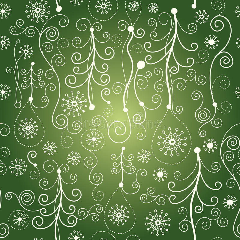 картина рождества безшовная иллюстрация штока