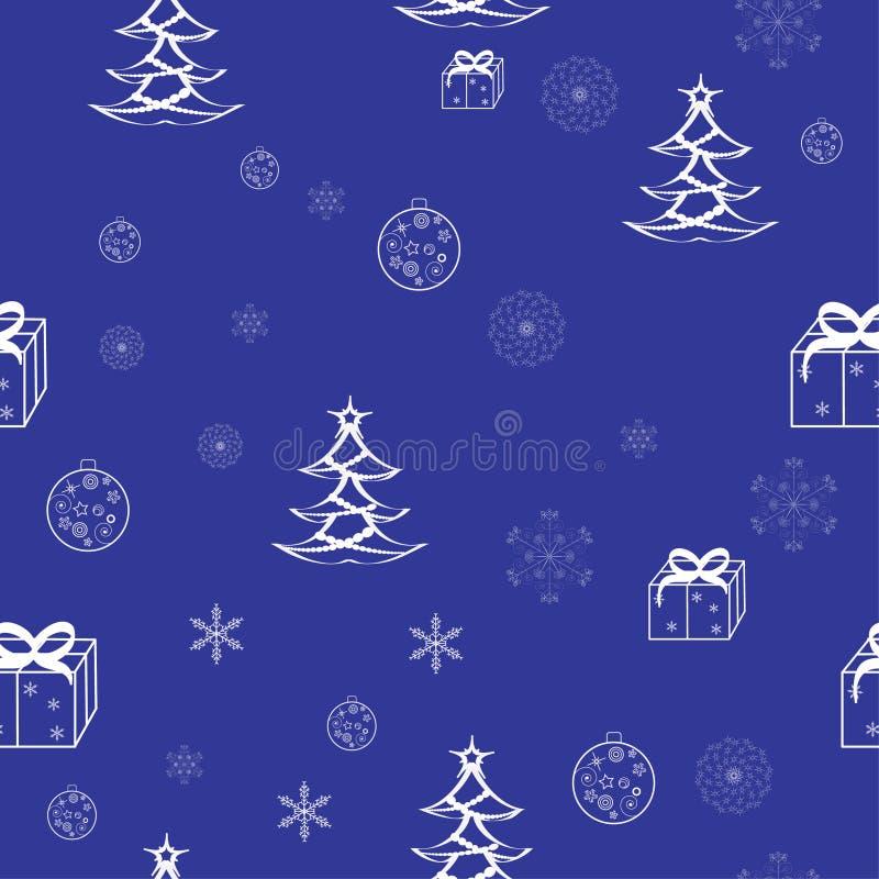 картина рождества безшовная бесплатная иллюстрация
