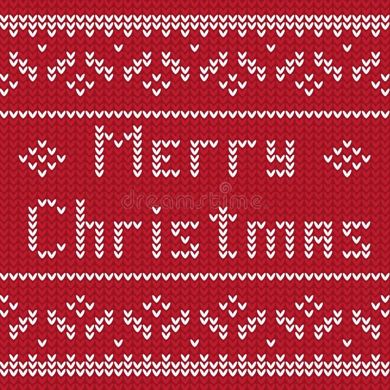 Картина рождества зимы вязать Предпосылка вектора рождества и Нового Года бесплатная иллюстрация