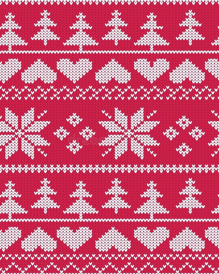 Картина рождества острова красного вектора справедливая иллюстрация штока