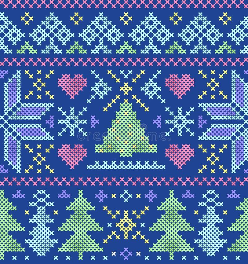 Download Картина рождества безшовная Иллюстрация вектора - иллюстрации насчитывающей домодельно, классицистическо: 33725511