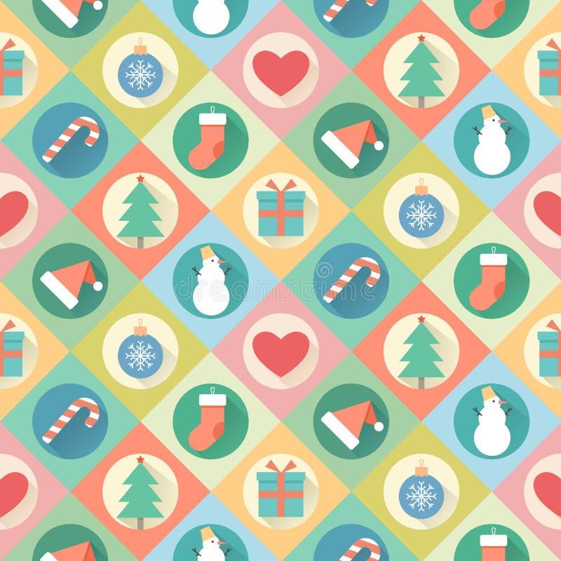 картина рождества веселая Иллюстрация вектора плоского дизайна иллюстрация вектора