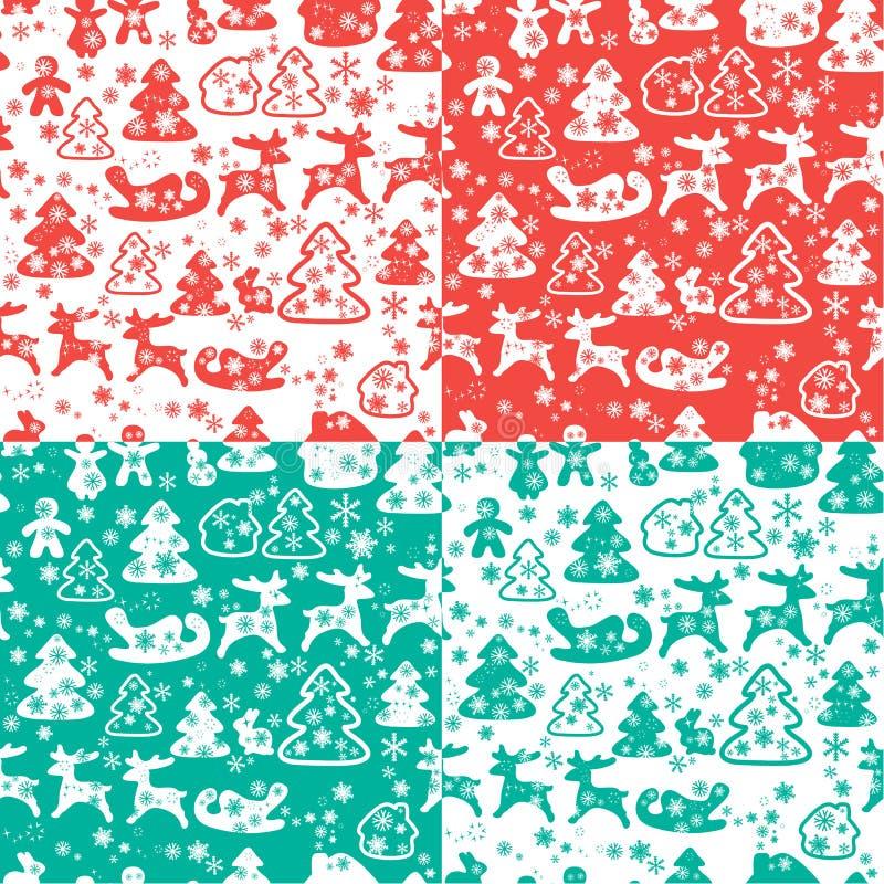 Картина рождества и Нового Года безшовная с снежинками бесплатная иллюстрация