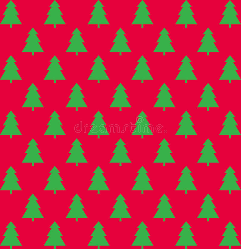 Картина рождества с деревьями стоковое изображение rf