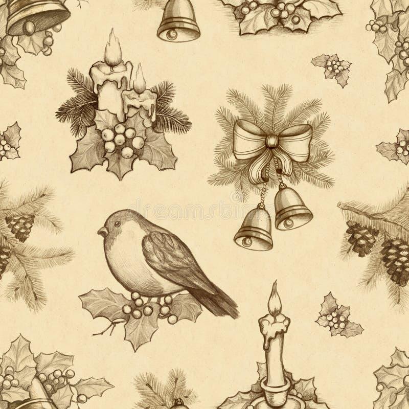 Картина рождества иллюстрация штока
