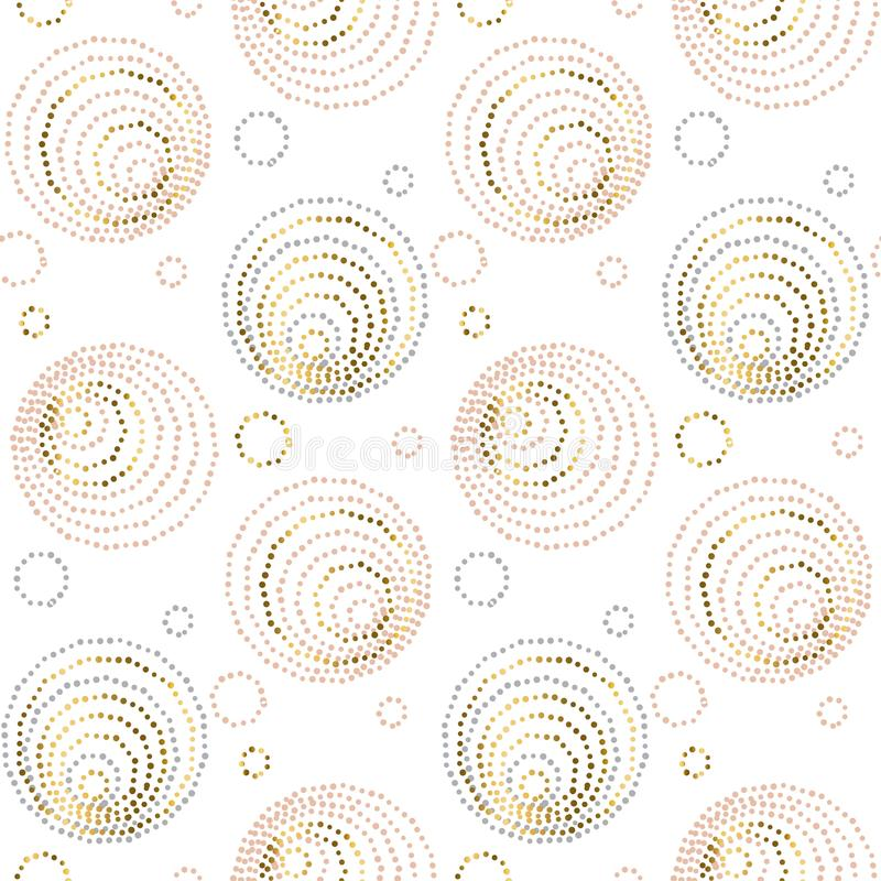 Картина розового стиля геометрии конспекта золота роскошного безшовная элегантная шикарная иллюстрация вектора иллюстрация вектора