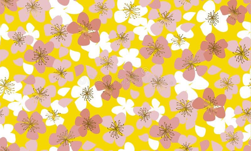 Картина роскошного элегантного флористического вектора безшовная иллюстрация штока