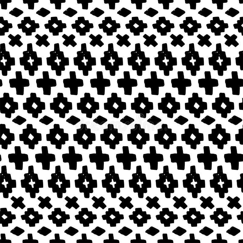 Картина руки вектора вычерченная безшовная племенная иллюстрация штока