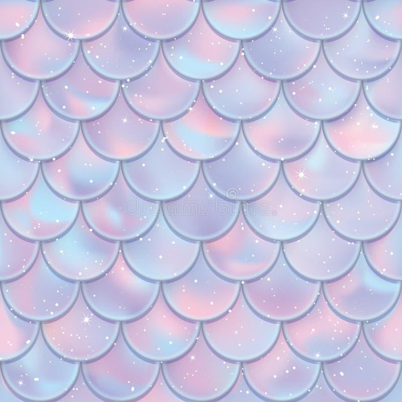 картина рыб вычисляет по маштабу безшовное Текстура кабеля русалки также вектор иллюстрации притяжки corel иллюстрация штока