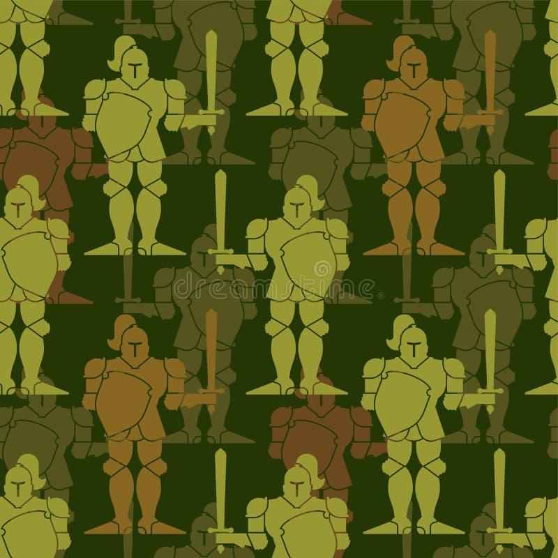 Картина рыцаря армии безшовная Ornam войск ратника панцыря металла бесплатная иллюстрация
