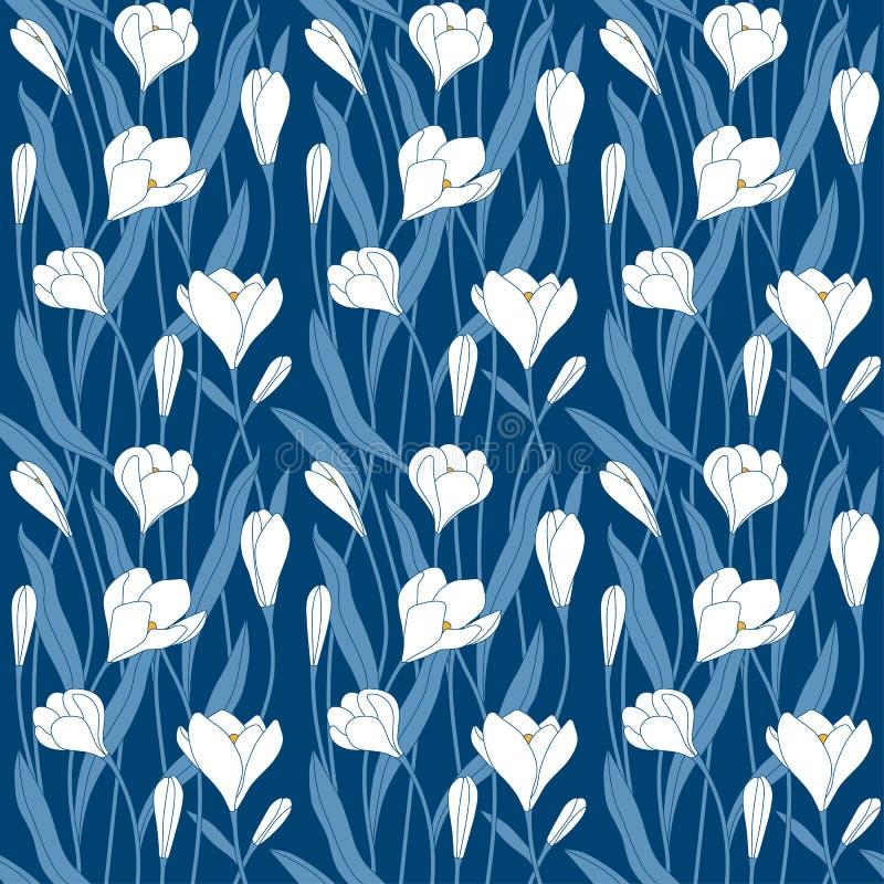 Картина сада цветков декоративная передняя иллюстрация штока