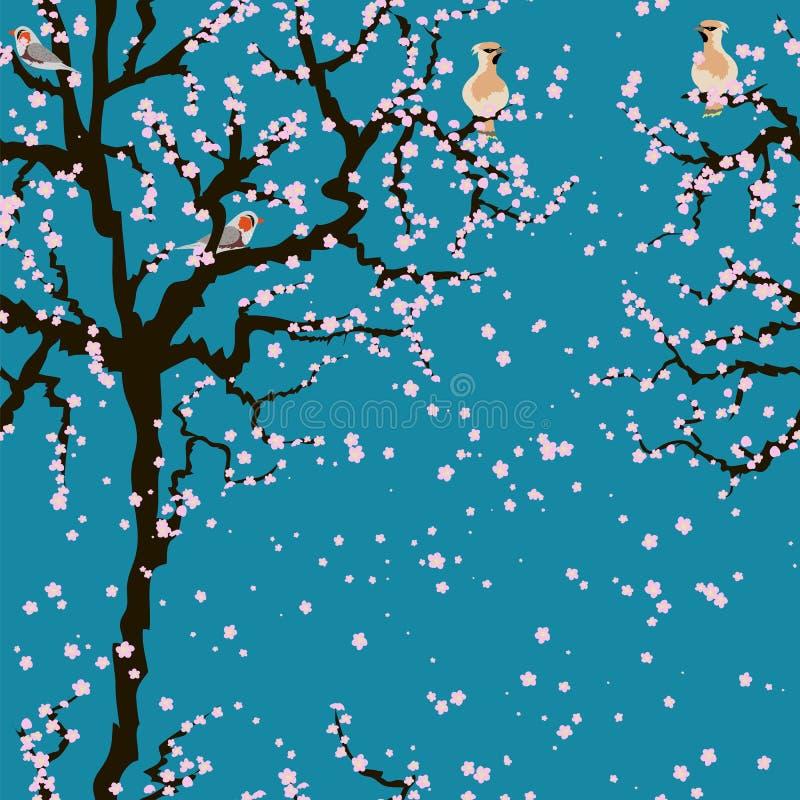 Картина Сакуры вишневого цвета безшовная бесплатная иллюстрация