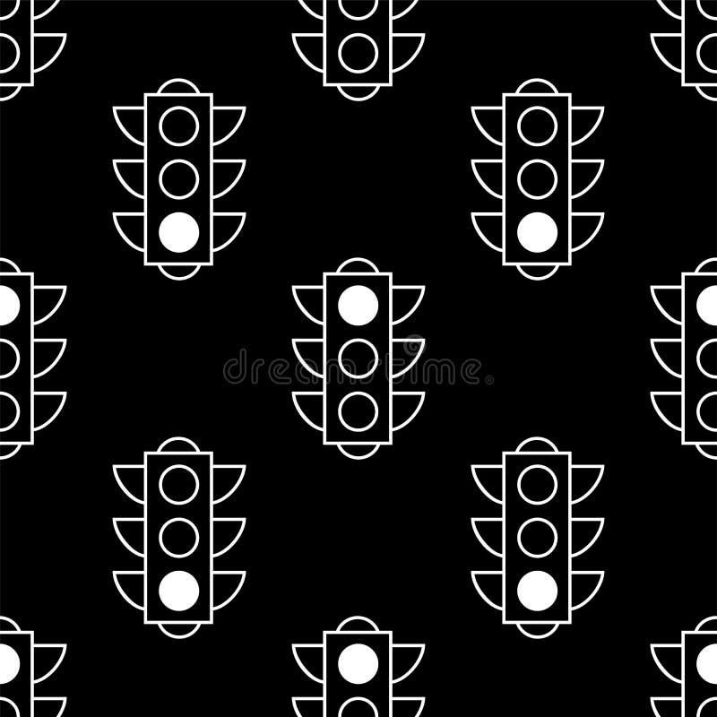 Картина светофора безшовная, простой знак вектора иллюстрация штока