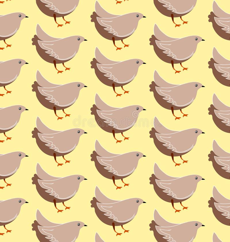 Картина серой птицы безшовная бесплатная иллюстрация