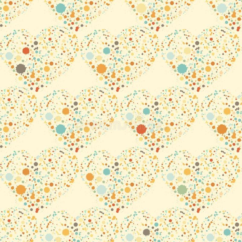 Картина сердец Splatter безшовная поверхностная бесплатная иллюстрация