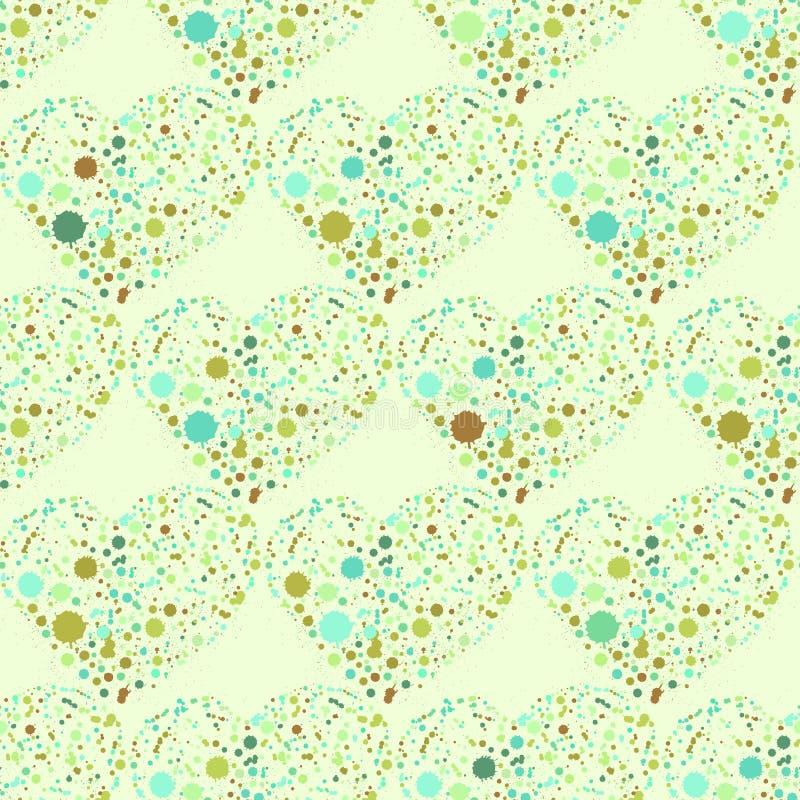 Картина сердец Splatter безшовная поверхностная иллюстрация вектора