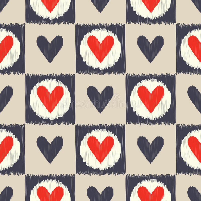 Картина сердца безшовного scribble геометрическая иллюстрация вектора