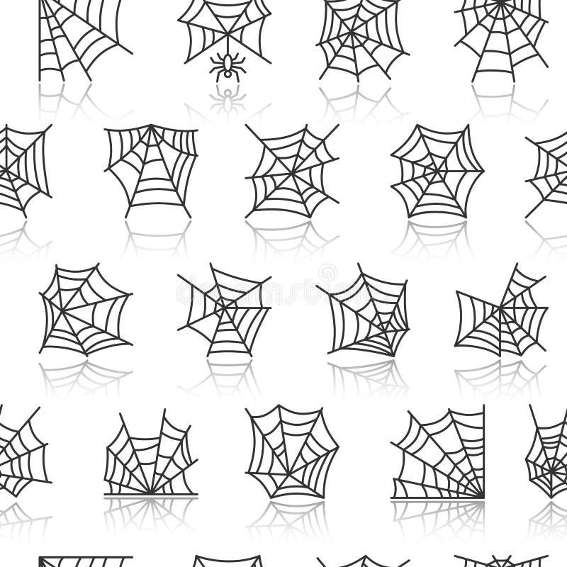 Картина сети паука безшовная бесплатная иллюстрация