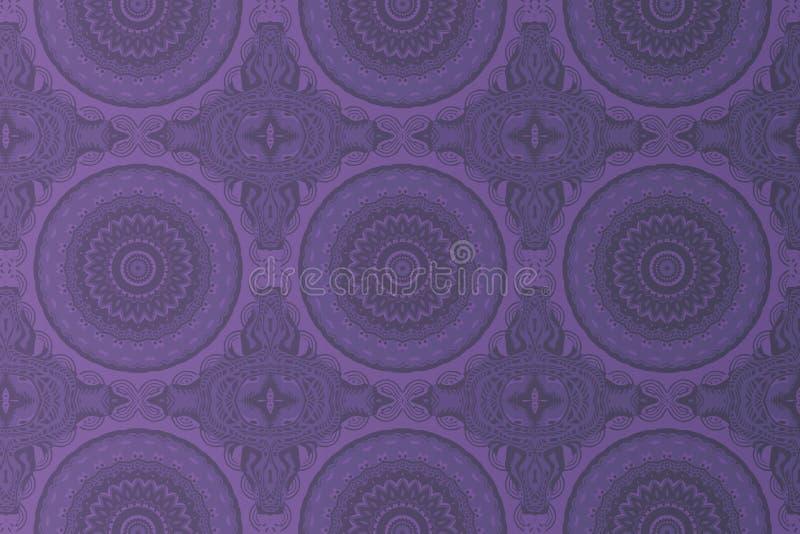Картина символа мандалы в пурпуре стоковые фотографии rf