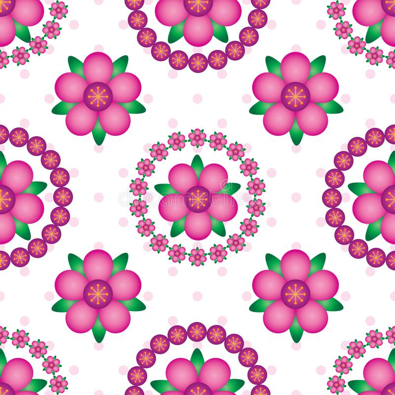 Картина симметрии мандалы градиента цветка безшовная иллюстрация штока