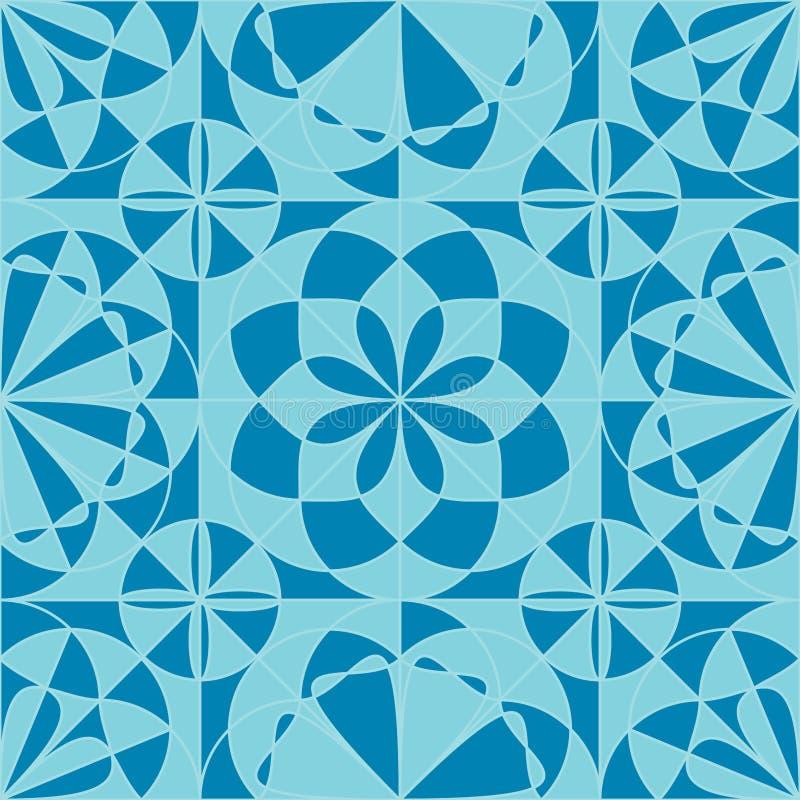 Картина симметрии луча цветка круга безшовная иллюстрация вектора