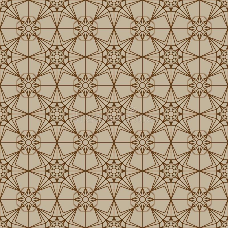 Картина симметрии шестиугольника звезды безшовная иллюстрация вектора