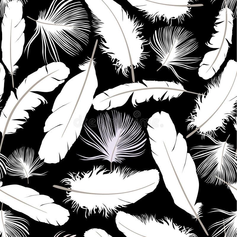 Картина силуэта пера безшовная бесплатная иллюстрация